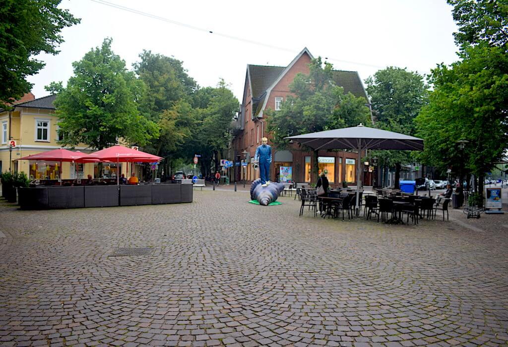 Der Muschelläufer auf dem Rondeel in Ahrensburg – Foto: Nicole Stroschein
