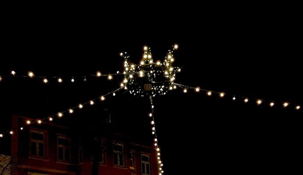 Lichterkrone auf dem Rondeel in Ahrensburg – Foto: Nicole Stroschein