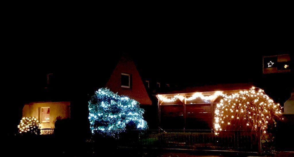 Weihnachtsbeleuchtung in Ahrensburg – Foto: Nicole Stroschein