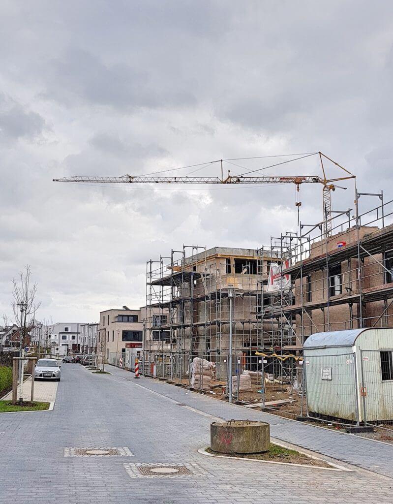 Baustelle, Erlenhof, Ahrensburg – Foto: Nicole Stroschein