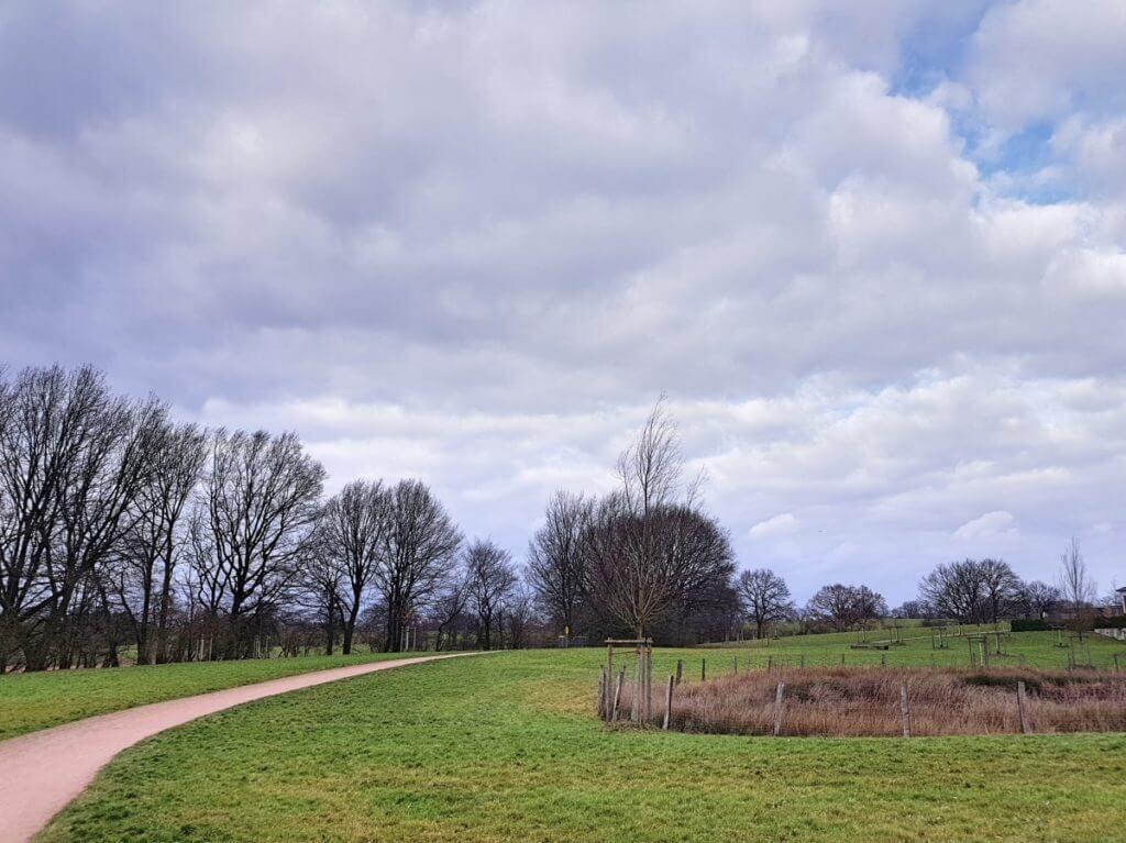 Spazierweg im Wohngebiet Erlenhof, Ahrensburg – Foto: Nicole Stroschein