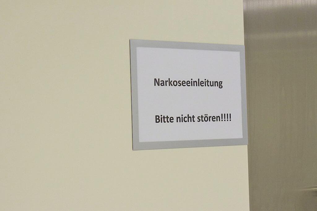 Anästhesie-Raum der Park-Klinik –Foto: Nicole Stroschein
