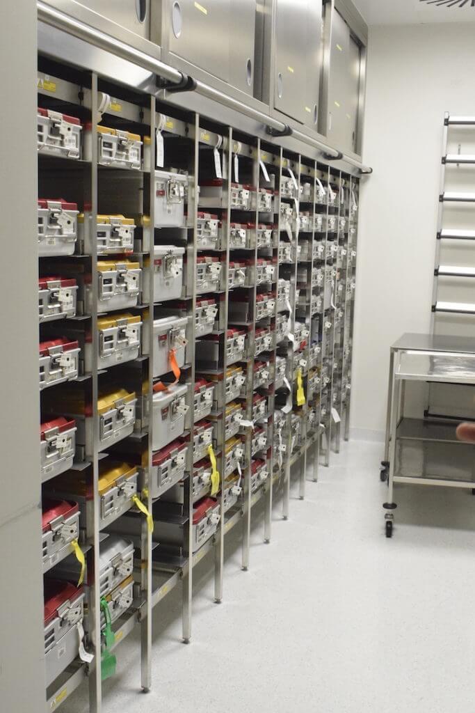 Werkzeug-Koffer im OP-Bereich der Park-Klinik-Manhagen –Foto: Nicole Stroschein