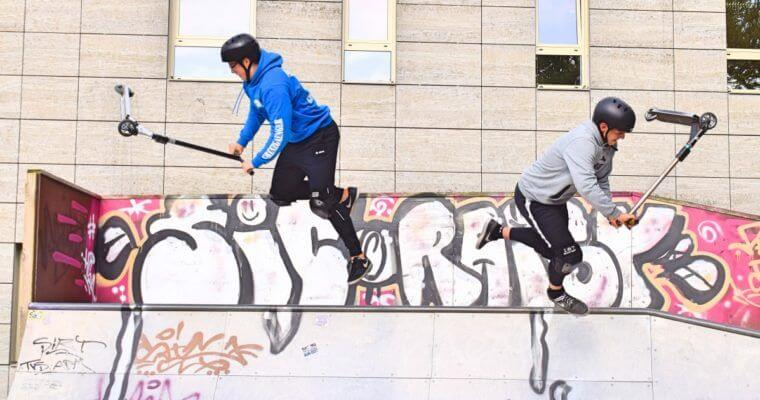 """""""Blaue Flecken gehören dazu!"""" – Mit Benny und Marc im Skatepark"""
