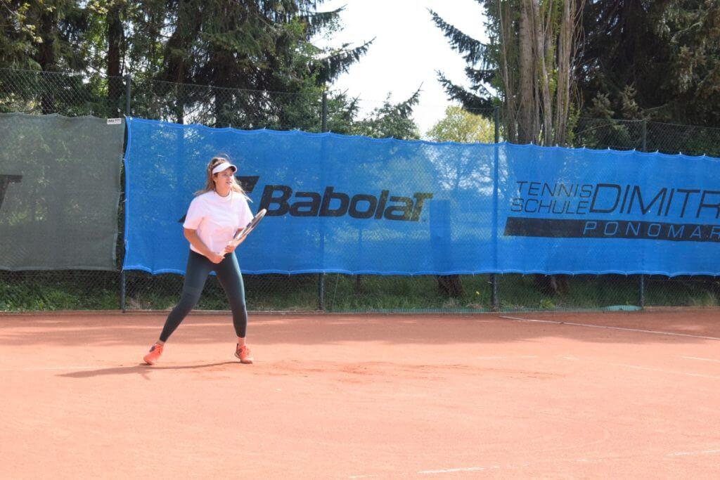 Das Ziel klar im Blick: Lisa Ponomar beim Training – Foto: Nicole Stroschein