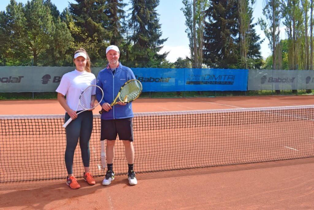 Lisa Ponomar und ihr Vater Dimitri –Foto: Nicole Stroschein