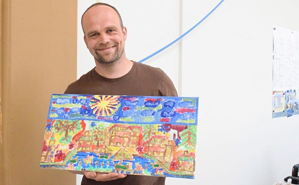 André von den Stormarner Werkstätten in Ahrensburg – Foto: Nicole Stroschein