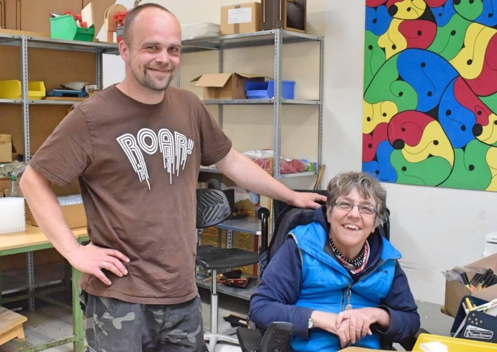 André und Kristina von den Stormarner Werkstätten in Ahrensburg – Foto: Nicole Stroschein