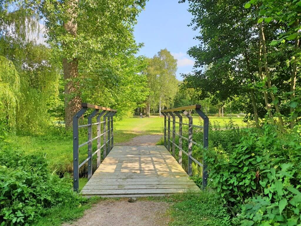 Brücke am Aalfang Teich – Foto: Nicole Stroschein