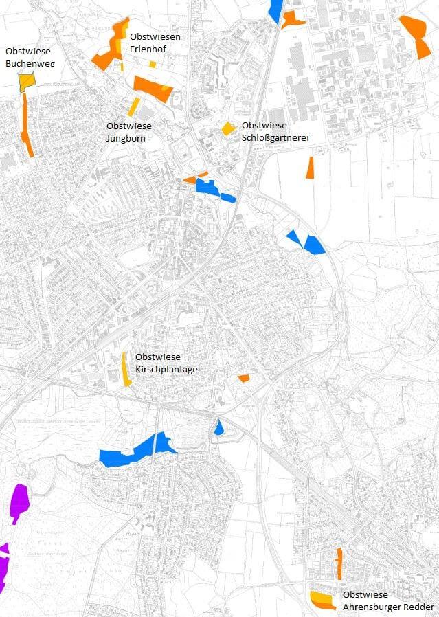 Die Obstwiesen im Überblick – Copyright: Stadt Ahrensburg