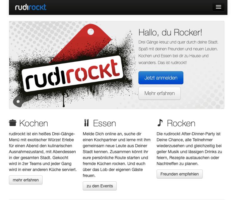 rudirockt, die Homepage
