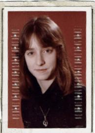 Birgit Hoffmann in jungen Jahren