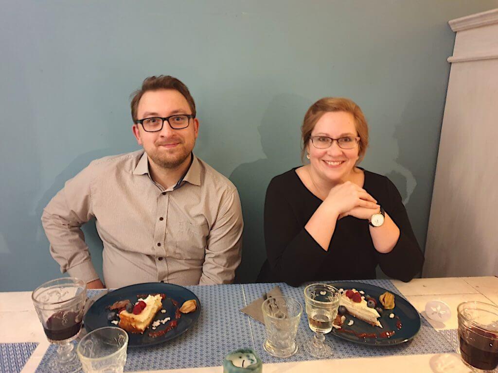 Florian und Maren beim Dessert –Foto: Nicole Stroschein