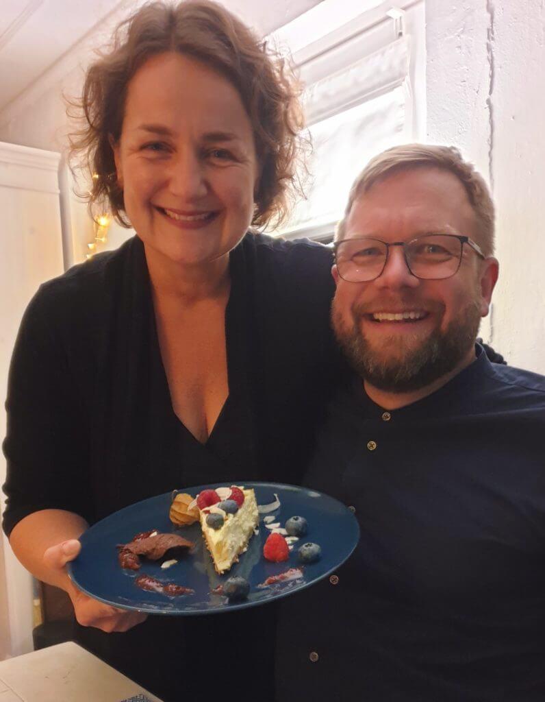 Cheesecake zum Dessert beim Running Dinner in Ahrensburg