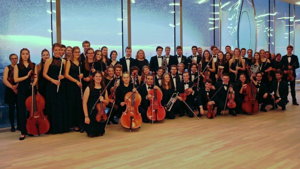 Das Jugend-Sinfonieorchester in voller Besetzung