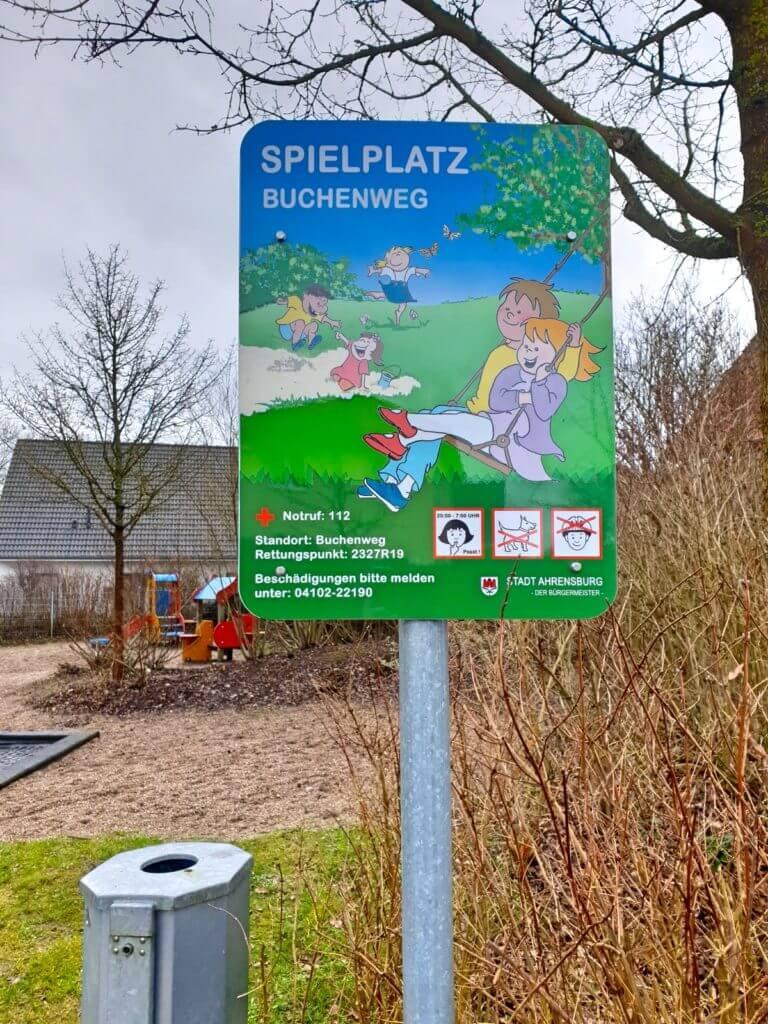 Der Spielplatz Buchenweg – Foto: Nicole Stroschein