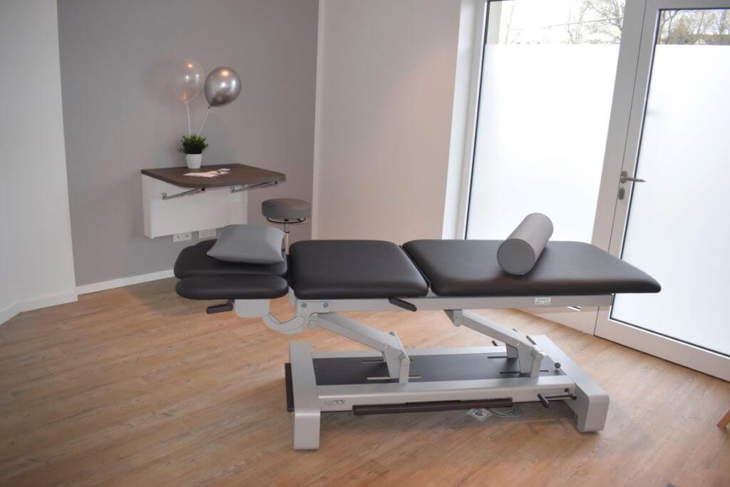 Physiometics, Behandlungsraum – Foto: Nicole Stroschein