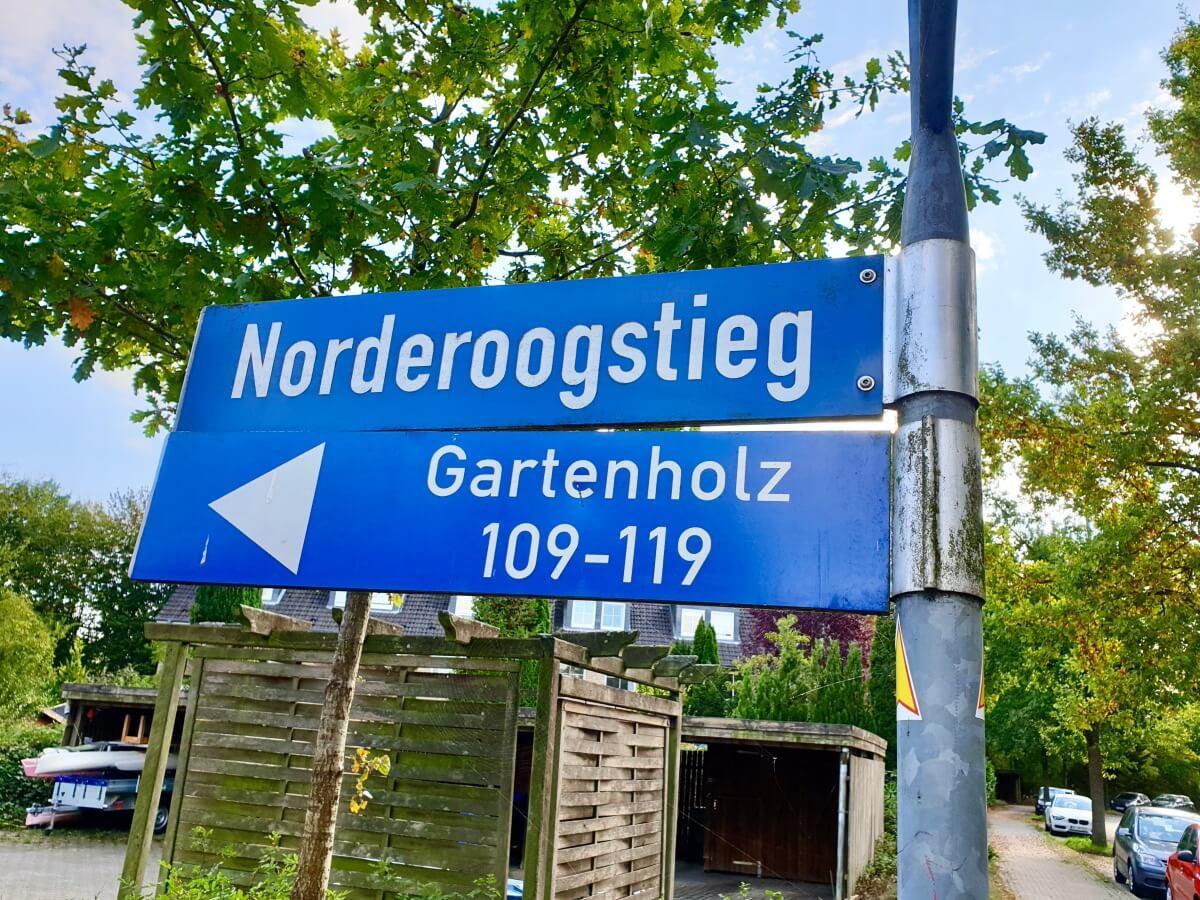 Norderoogstieg, Gartenholz – Foto: Nicole Schmidt
