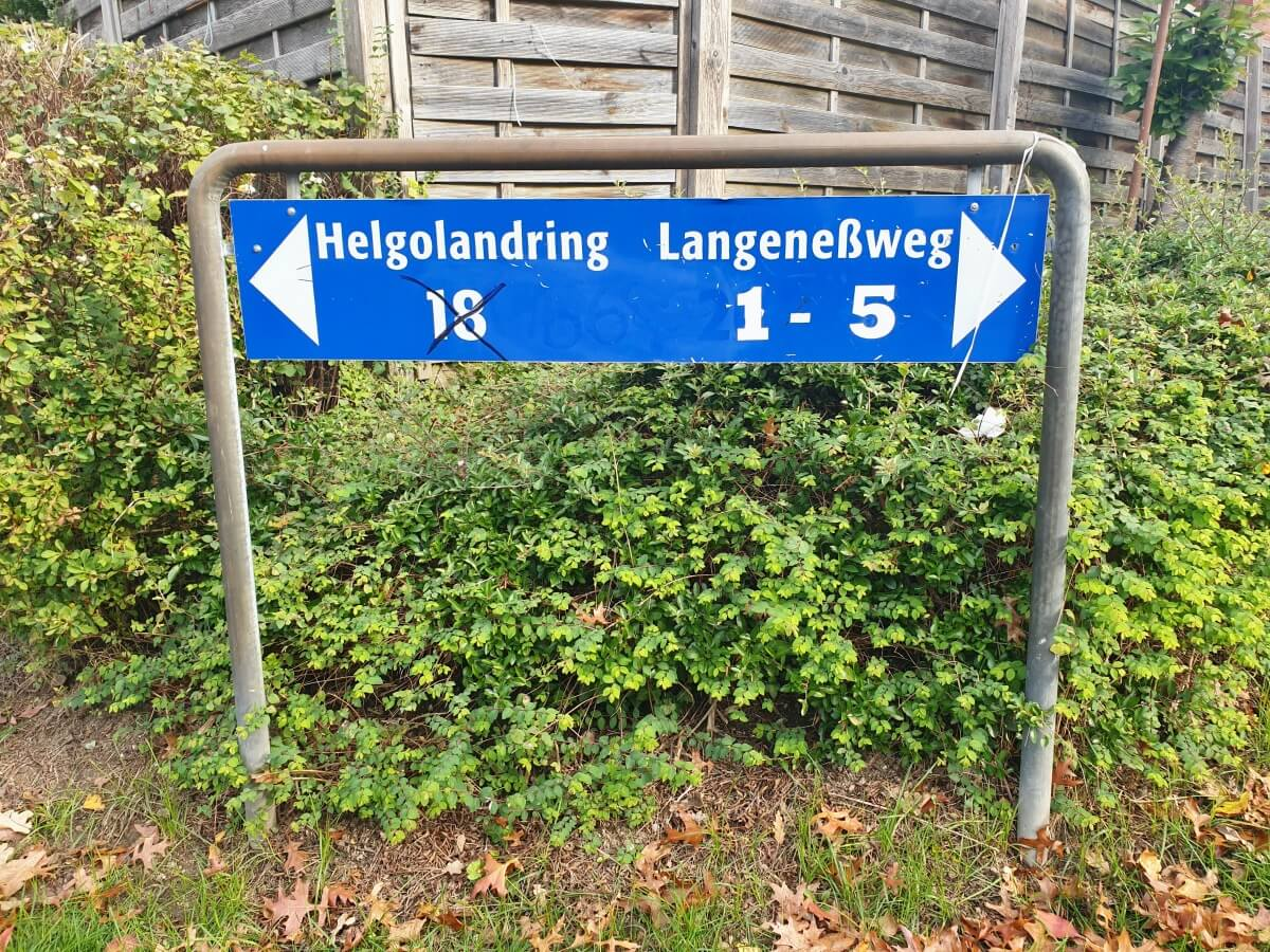 Wegweiser am Helgolandring –Foto: Nicole Schmidt