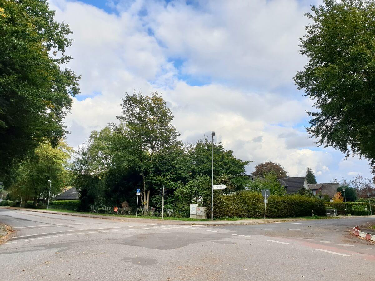 Die Kreuzung Hagener Allee / am Hagen / Spechtweg in Ahrensburg –Foto: Nicole Schmidt