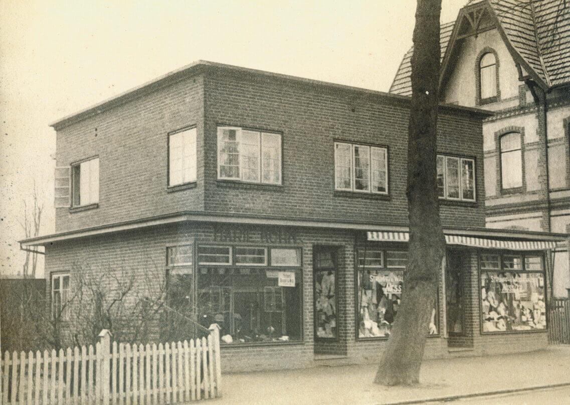 Kaufhaus Nesser in Ahrensburg im Jahr 1930