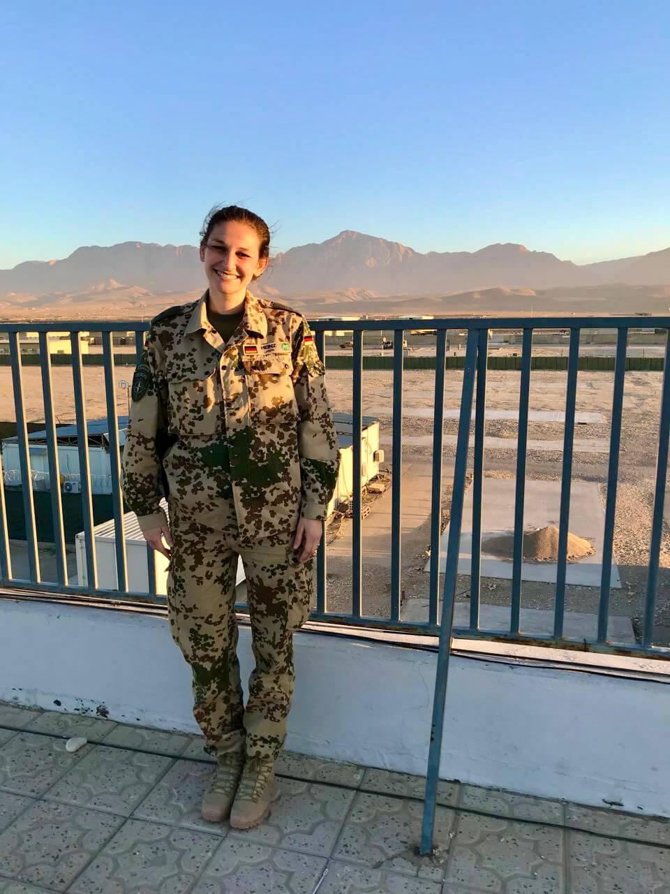 Julia Heinz in Afghanistan