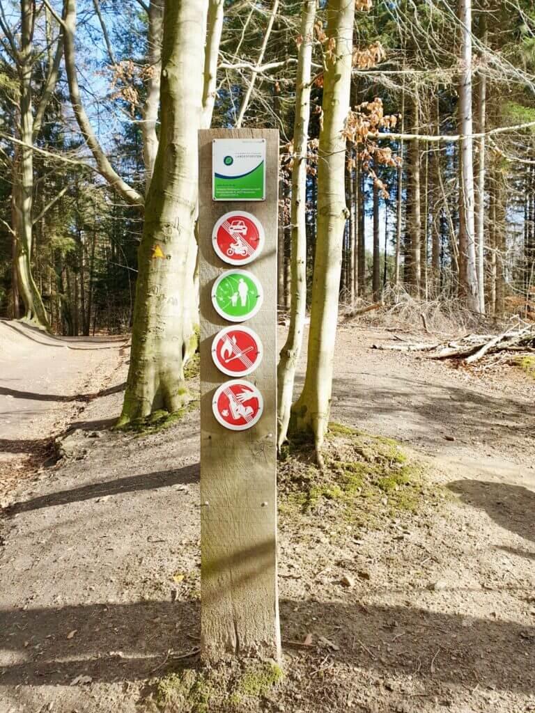 Verhaltensregeln am Großensee – Foto: Nicole Schmdit