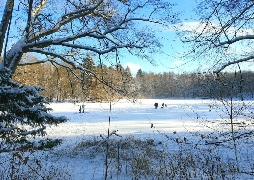 Schlittschuhlaufen im Park Manhagen – bitte vorsichtig! – Foto: Nicole Schmidt