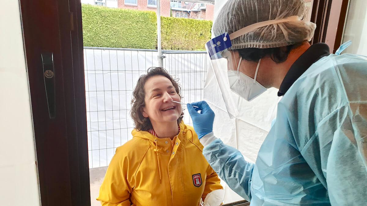 Corona Test in Ahrensburg beim Malteser Hilfsdienst