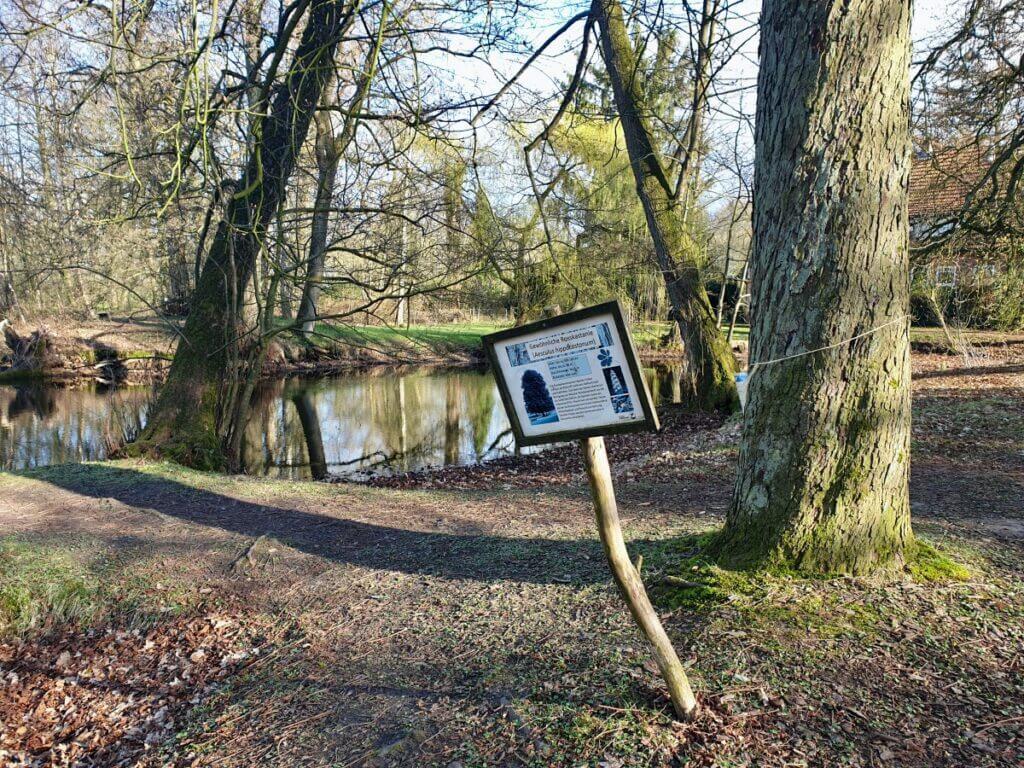 Wegweiser am Haus der Natur in Ahrensburg – Foto: Nicole Schmidt