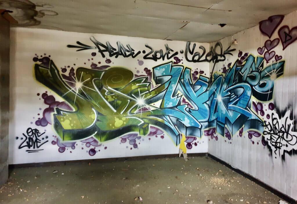Grafitti im 1. Stockwerk des Speichers – Foto: Nicole Schmidt