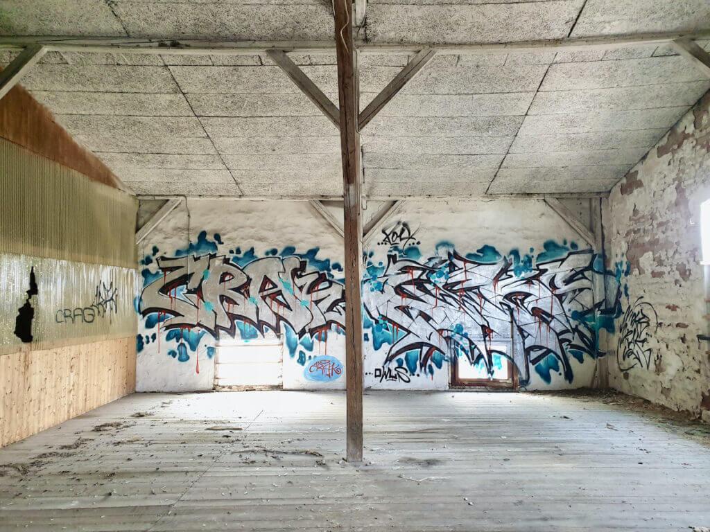 Speicher in Ahrensburg. Graffiti im obersten Stockwerk –Foto: Nicole Schmidt