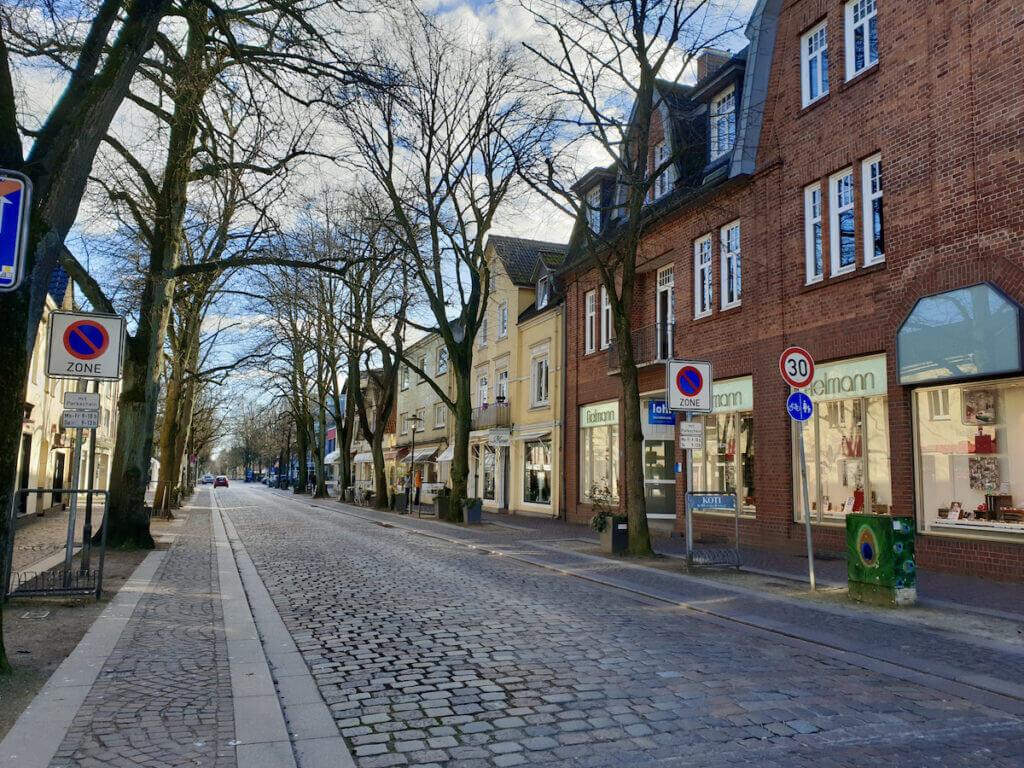 Hagener Allee in Ahrensburg, April 2020 –Foto: Nicole Schmidt
