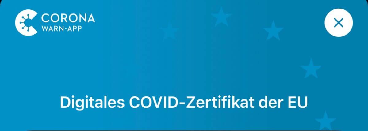 Digitales Impfzertifikat in der Corona-Warn-App