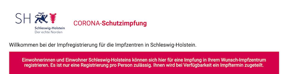 Impfen in Schleswig-Holstein – Screenshot: impfen-sh.de